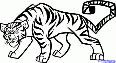 pattern drawing tiger simple drawing of tiger drawing of sketch
