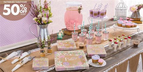 city bridal shower paper goods rustic floral wedding supplies city canada