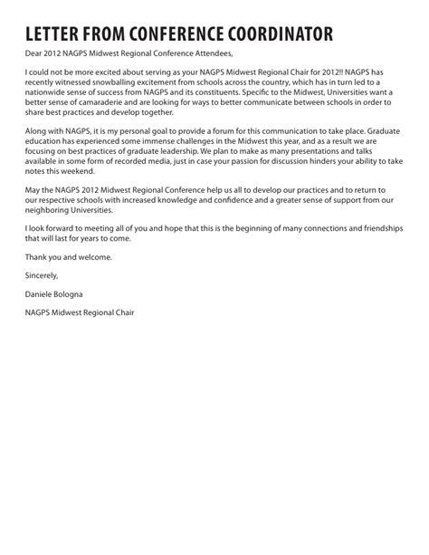 Letter Service Bologna Nagps 2012 Midwest Regional Conference Program Agenda