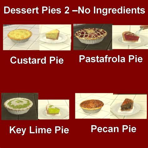 Custom Food mod the sims custom food dessert pies 2