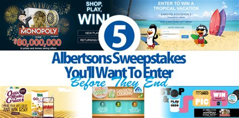Albertsons Monopoly Sweepstakes - 5 albertsons sweepstakes you ll want to enter before they end