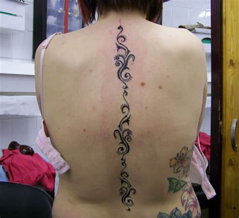 tribal spine tattoos for women tattoo designs piercing