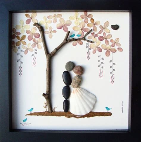 unique wedding gifts unique wedding gift personalized wedding gift pebble art