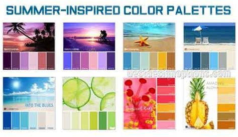 summer colors summer colors cool palettes for summer designs