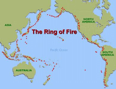 ring  fire map shows   earths tectonic plates