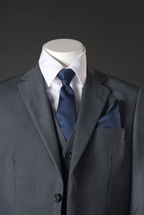 boys grey suit with choice of solid tie by ferrecci