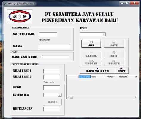membuat form input html membuat form input hasil tes tulis program penerimaan
