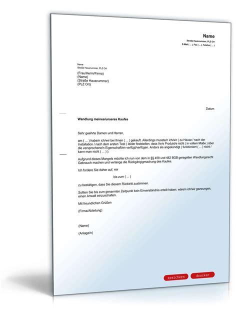 Musterbrief Angebot Nicht Annehmen R 252 Cktritt Vom Kaufvertrag Bei Falschauskunft Muster Zum
