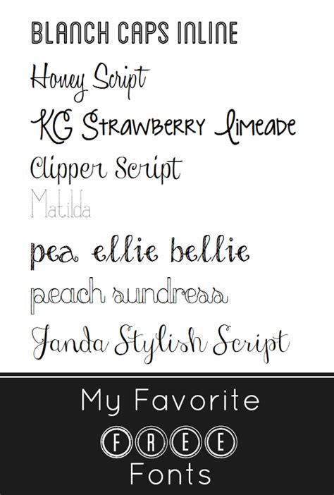 fonts free my favorite free fonts the pretty bee