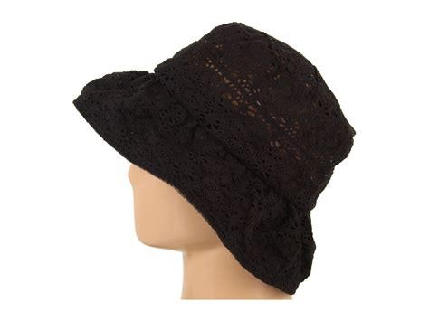 Lace Hat grace hats lace hat braid in black lyst