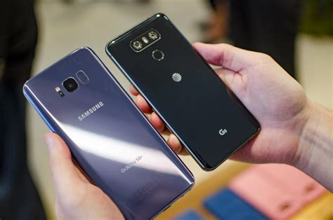 samsung s8 vs lg g6 which rival s flagship phone do you want in your