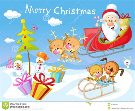 merry christmas design  santa stock vector illustration  design cartoon