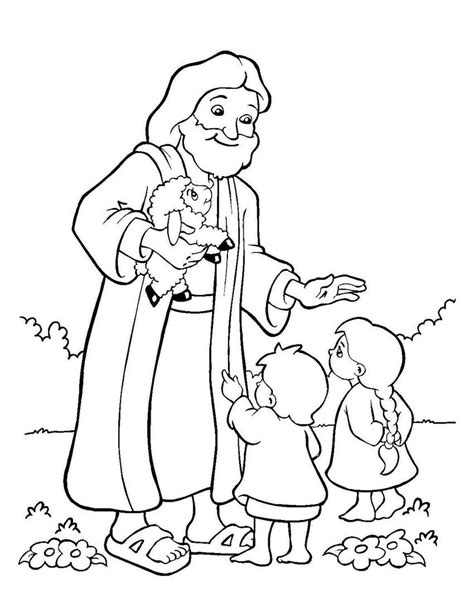 Gambar Mewarnai Yesus Dan Anak Anak Sekolah Minggu