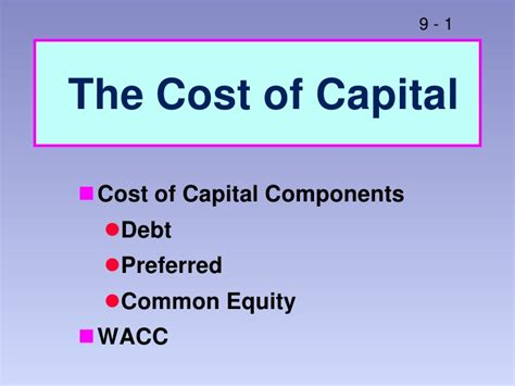 Wacc Mba by Weighted Average Cost Of Capital