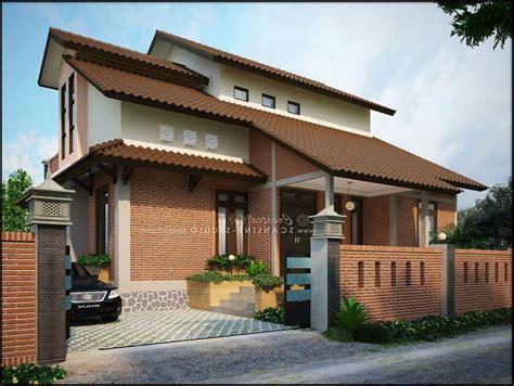 contoh desain rumah  lantai  modern renovasi rumahnet