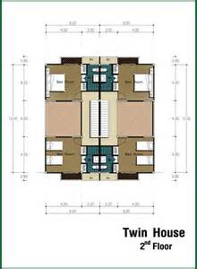 Twin House Plans Twin House At Premburi Chiang Mai Housing And Condominiums