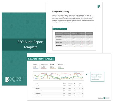 Build Your Sle Seo Report Template Pagezii Seo Audit Template