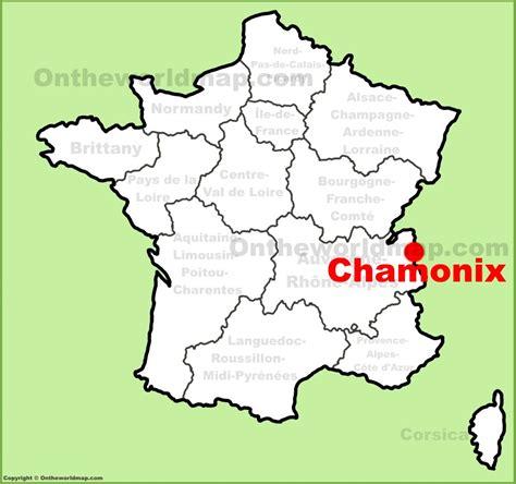 chamonix france chamonix location on the france map