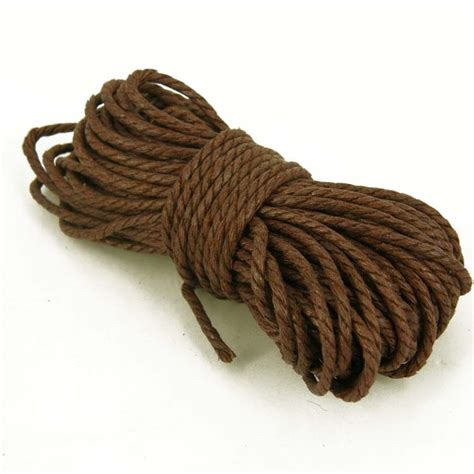 Macrame Rope - rope 2mm twisted cotton cord yarn macrame 10m black brown