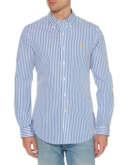 stripe slim fit sleeve shirt lyst polo ralph bengal stripe slim fit