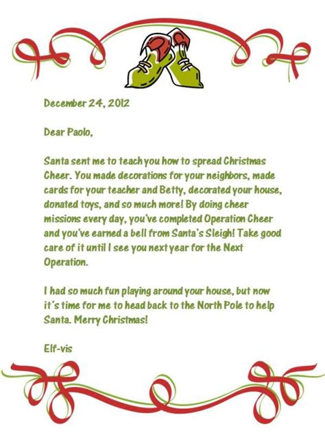 printable elf sick note elf on the shelf goodbye letter life as a field trip