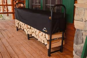 Wood Tire Storage Rack Plans by Portable Indoor Firewood Rack Storage With Black Metal Frame And Fabric Cover Ideas