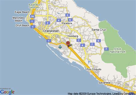 printable aruba road map map of coconut inn aruba