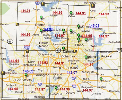 denton county texas map denton county radio association