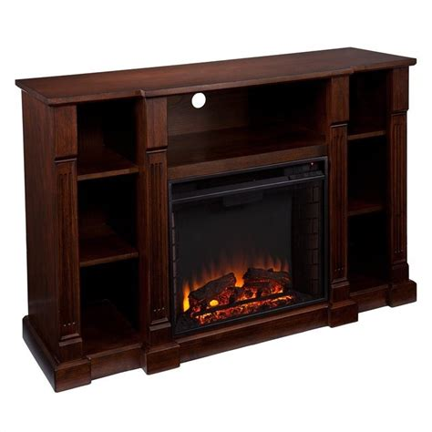 Espresso Electric Fireplace by Southern Enterprises Kendall Electric Media Fireplace In