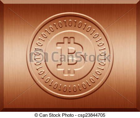 Bitcoin Orange Cyan illustration de plaque bronz bitcoin bronz plaque 224