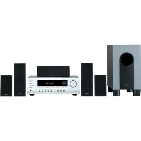 onkyo ht sr600 5 1 channel home theater system ht sr600s b h