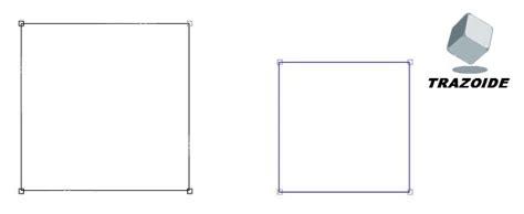 un cuadrado inscribir un cuadrado en otro trazoide