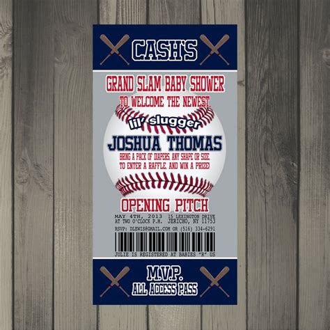 printable yankee tickets new york yankees inspired baseball baby shower invitation