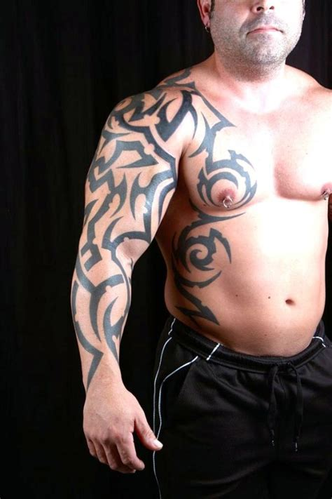 arm to chest tribal tattoo 20 beautiful tribal sleeve tattoos only tribal