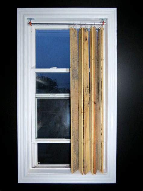 diy pallet wood vertical blinds recyclart