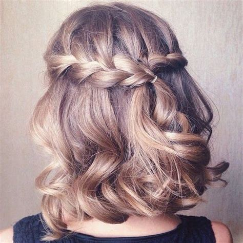 homecoming hairstyles waterfall braid 10 prom hairstyle designs for short hair prom hairstyles 2017