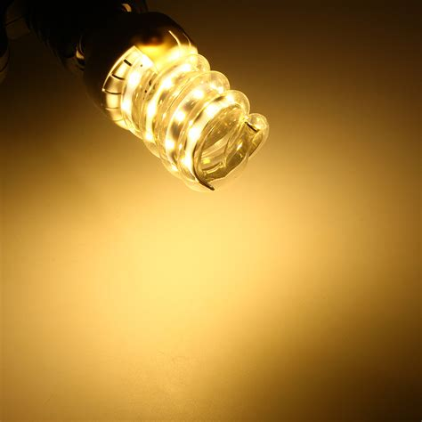 white energy saving light bulbs spiral style e27 5w 30w led ultra bright energy saving
