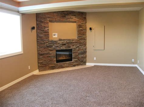 Gas Fireplace For Heating Basement Basement With Amazing Bar Traditional Basement Omaha