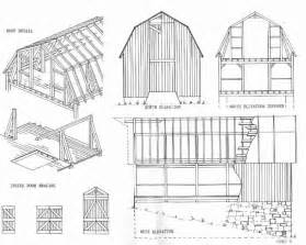 gable barn plans maine