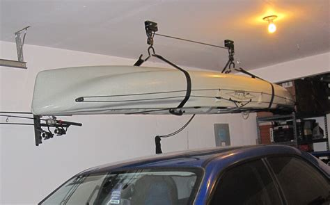 Pulley Systems For Kayaks In Garage garage kayak storage