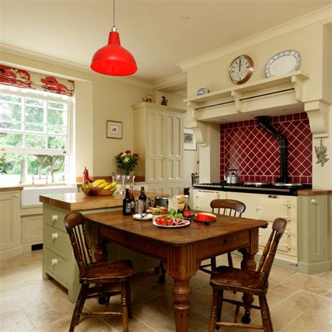modern country kitchen housetohome co uk country kitchen with aga ideal home
