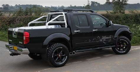 lifted truck custom nissan navara frontier this truck has home made aluminium sport back and