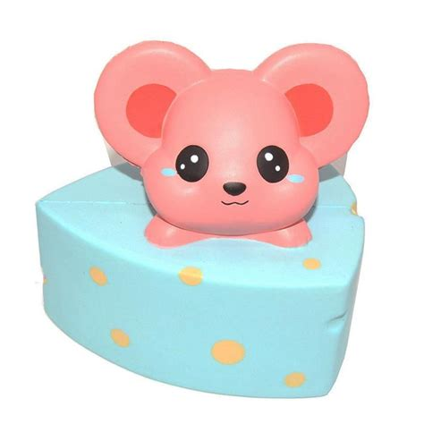 Squishy Monas kiibru kawaii squishies cheese mouse squishies