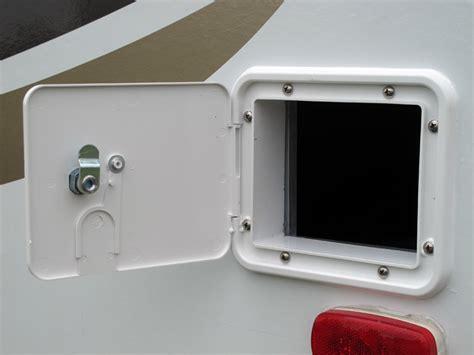 Rv Access Door shore power cable storage modifi