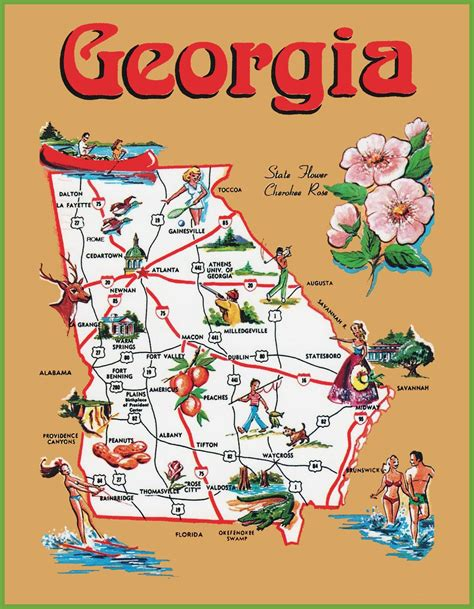 map of uga click to see large