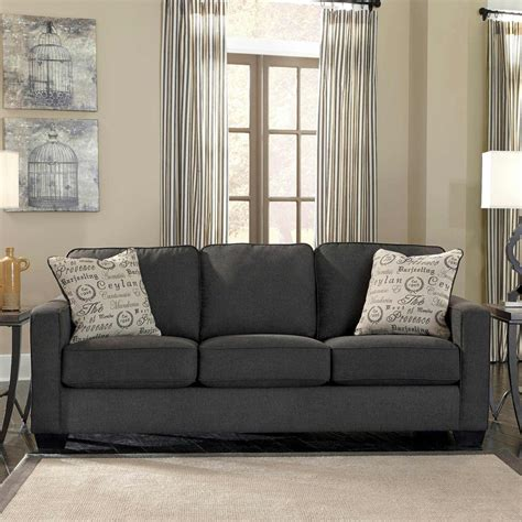 exchange sofa signature design by ashley alenya sofa charcoal sofas