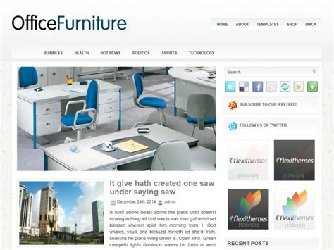 wordpress themes free office officefurniture wordpress theme by flexithemes