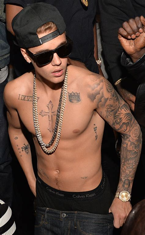 justin biebers tattoos justin bieber cool picture gallery