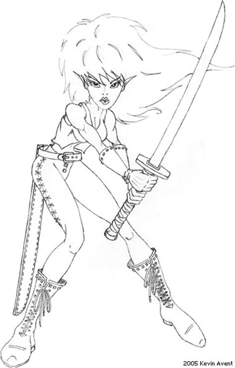 warrior girl coloring page free coloring pages of celtic warrior