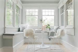 Inexpensive Roman Shades - dining nook transitional dining room sherwin williams sea salt emily henderson